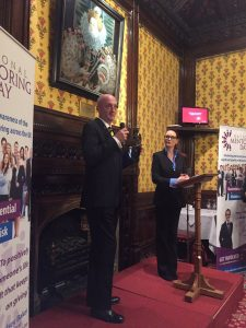 Mark Taylor spoke to guests about his Mentoring experiences with Chelsey Baker (Right)