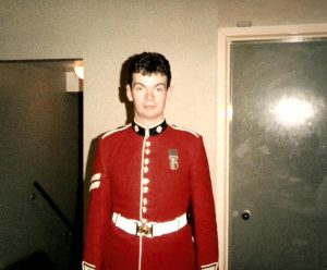 Paddy served for nine years in the 2nd Battalion Coldstream Guards