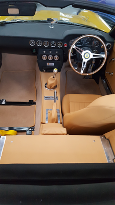 Re-upholstery and re-trimming including carpets, door cards and headlining