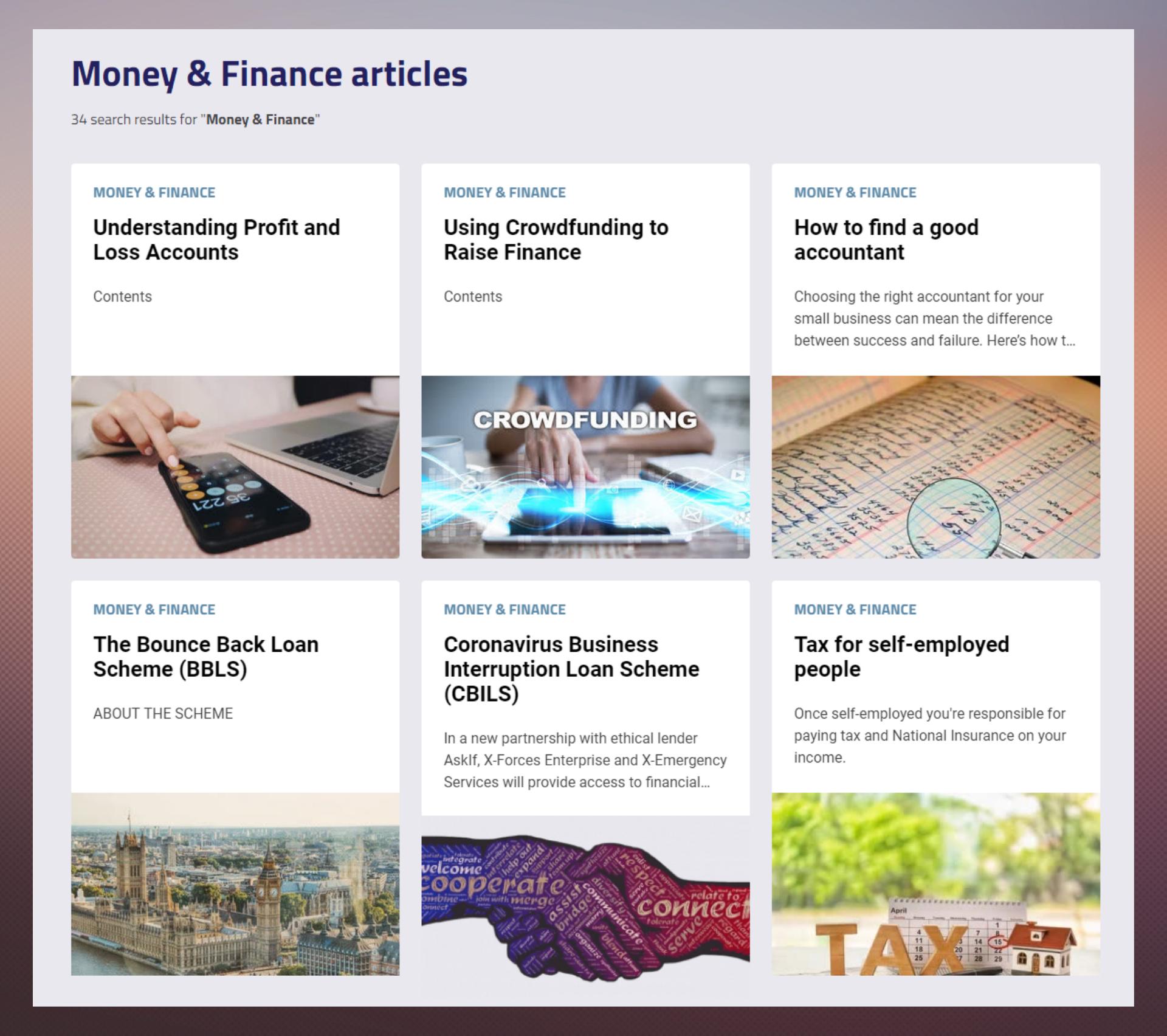 Money Articles Hub
